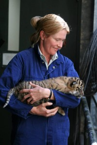 Louise with a tiger cub