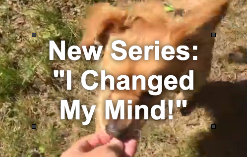 """I Changed My Mind"" Video Series Episodes"